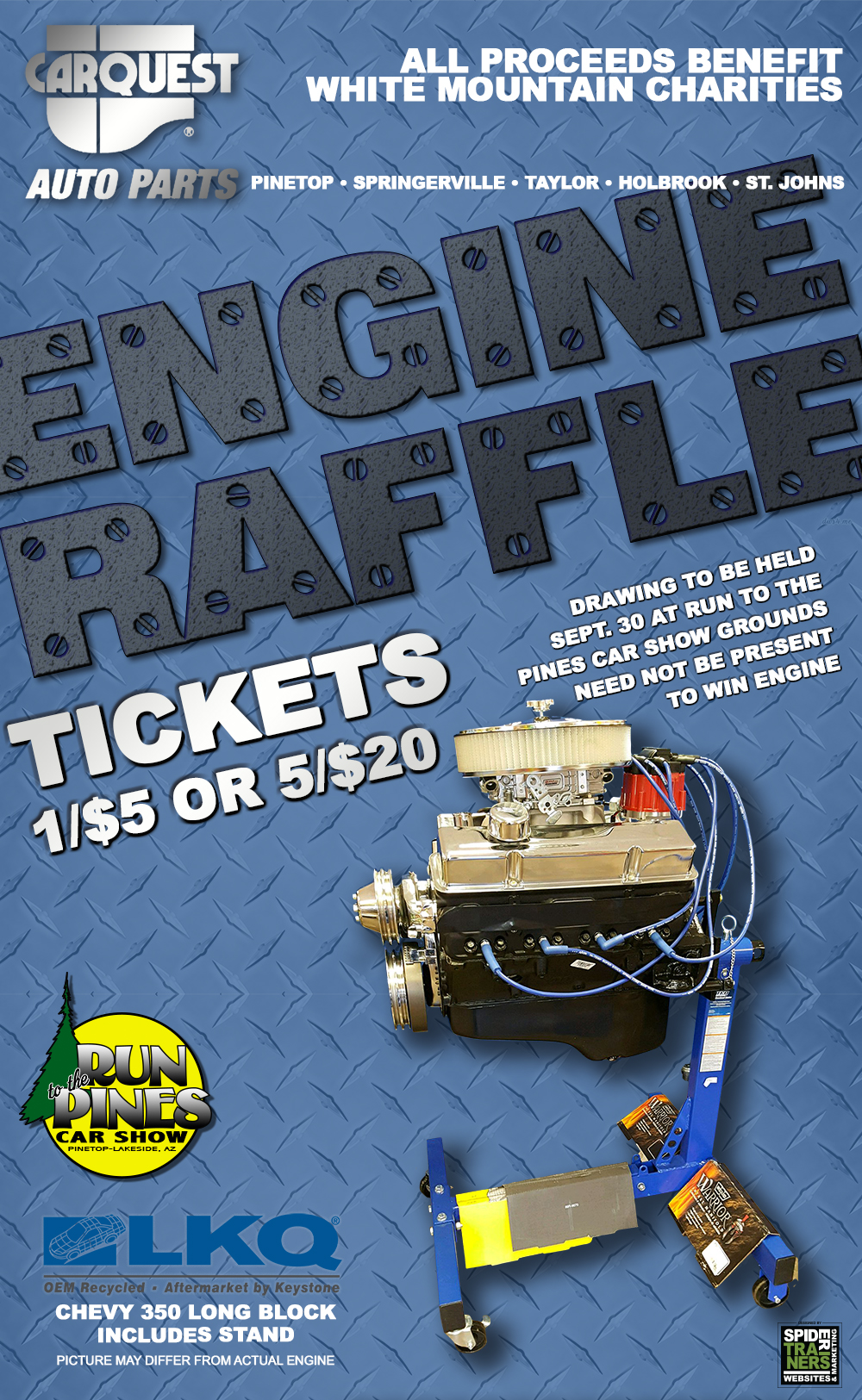 Carquest of the White Mountains Engine Raffle (image)